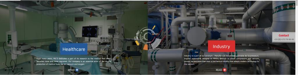 کمپرسور هوای فشره اکسیژن ساز وکیوم میلز فرانسه MILS